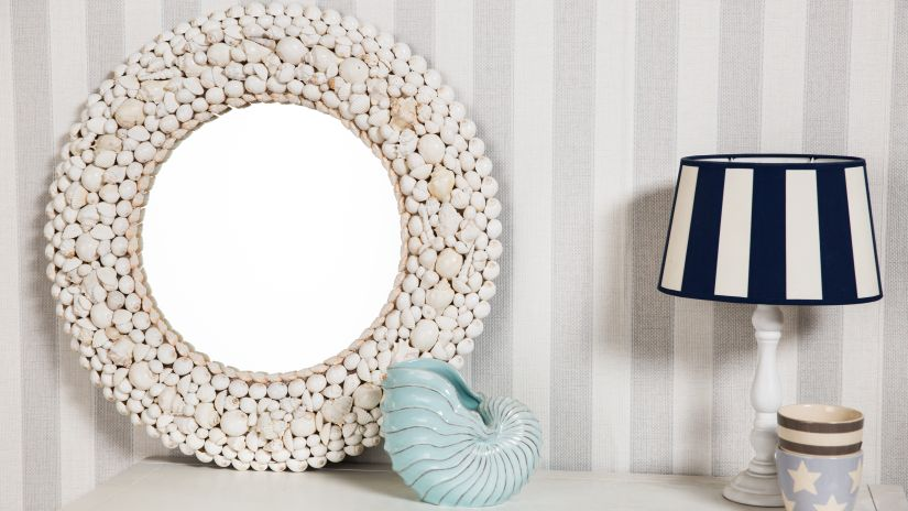 Miroir blanc rond