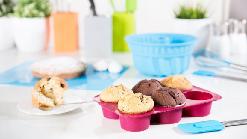 Moule pour muffins rose en silicone