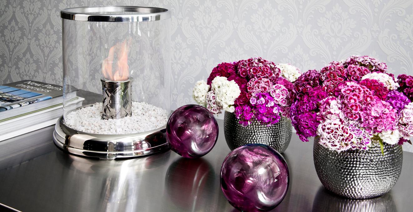 Vase argenté