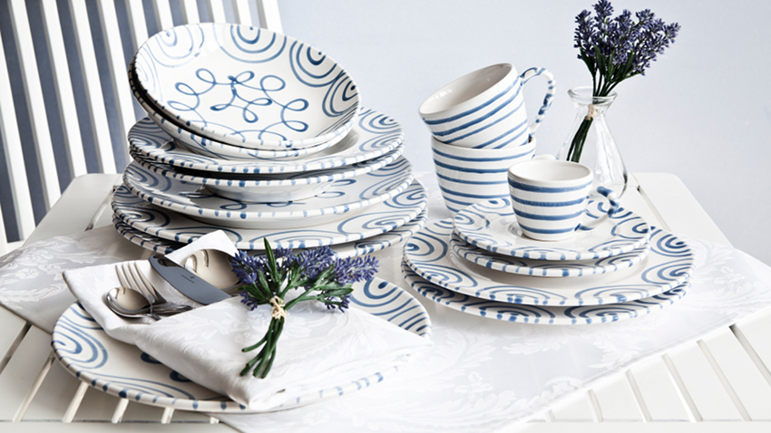 Set de table blanc
