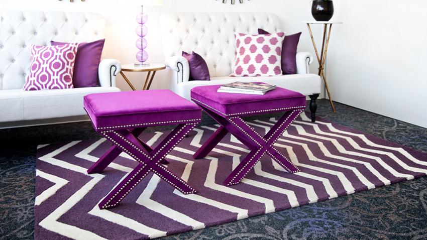 Tabouret violet
