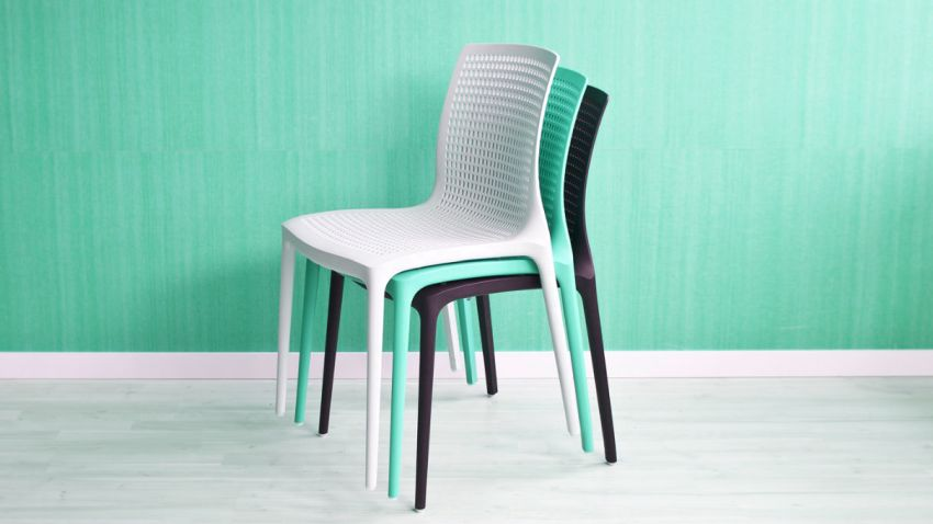 Chaise turquoise