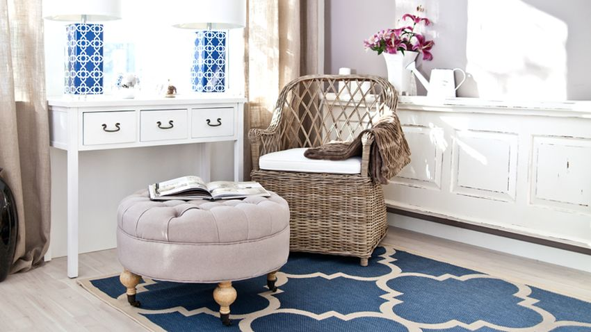 tapis bleu marine westwing d coration. Black Bedroom Furniture Sets. Home Design Ideas