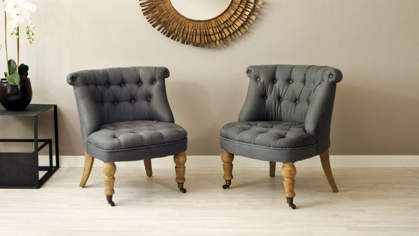 fauteuil capitonn jusqu 39 70 sur westwing. Black Bedroom Furniture Sets. Home Design Ideas