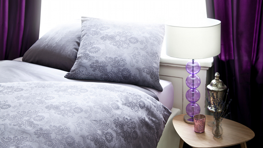 Housse de couette violette