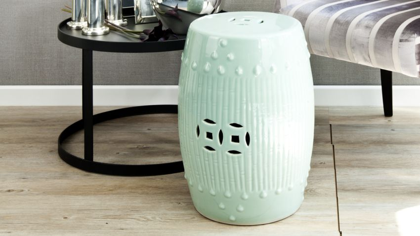 Tabouret turquoise
