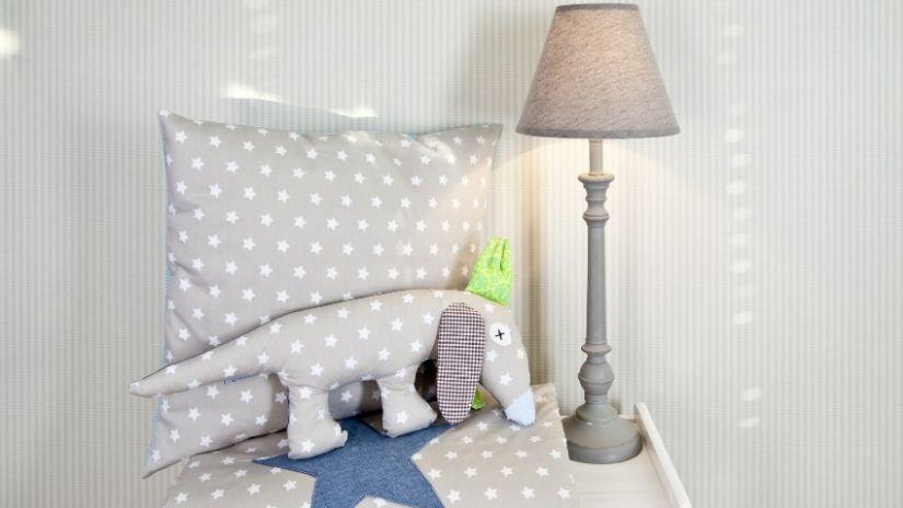 Lampe grise pour enfant