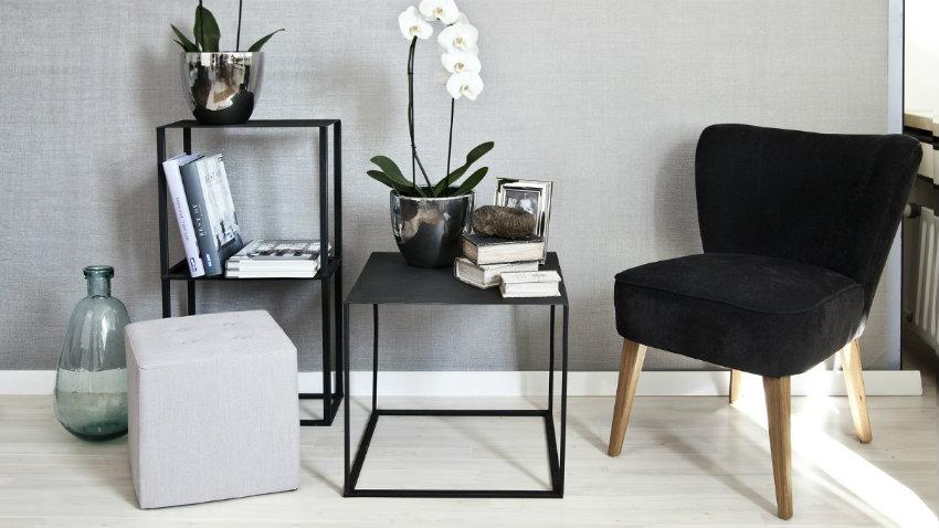 Dalani mensole a cubo stile in soggiorno for Mensole nere