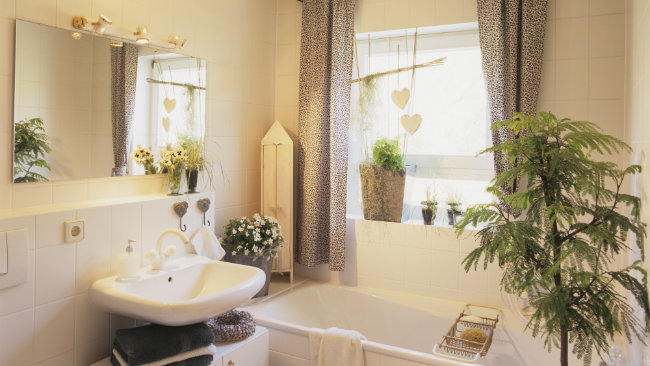 bagno piccolo vasca lavabo piantine