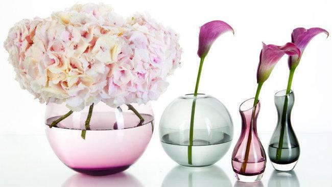 linguaggio dei fiori vasi trasparenti