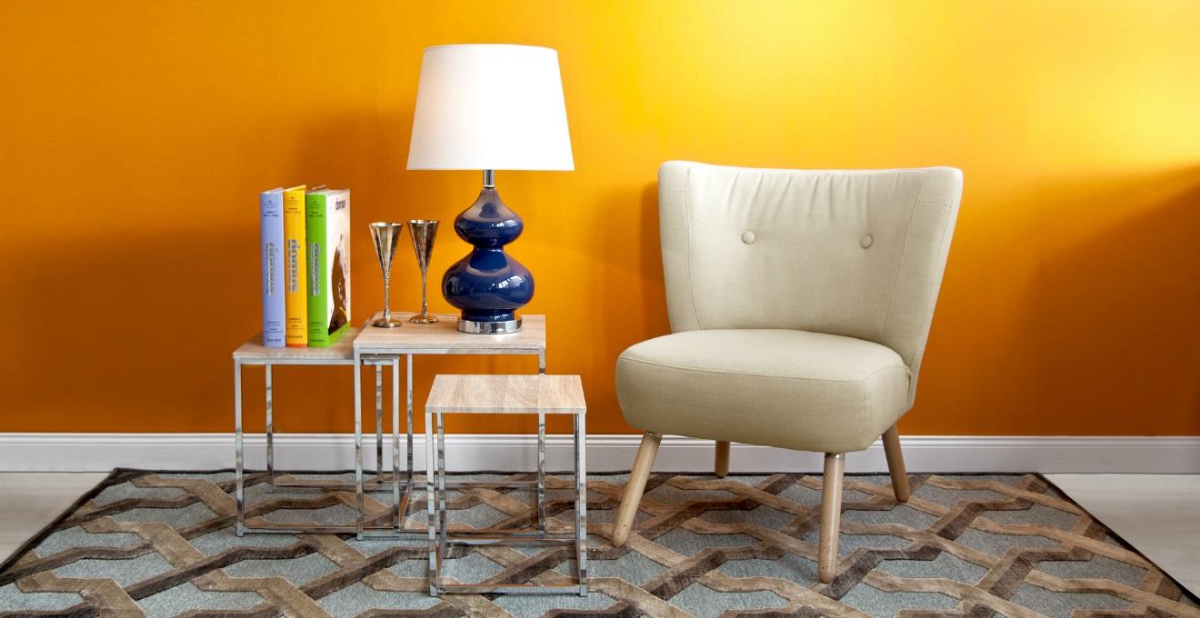 Arancione colore e calore per la casa dalani for Pareti colorate soggiorno esempi