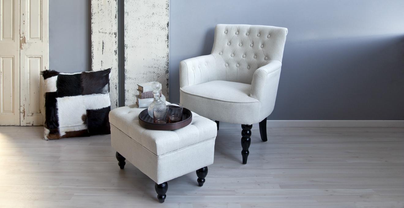 Dalani poltrona bianca eleganza e comfort for Poltroncine colorate
