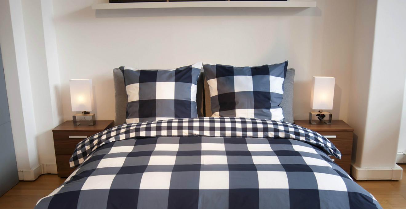 Dalani camera da letto blu colore del relax e armonia - Camera da letto in ciliegio ...