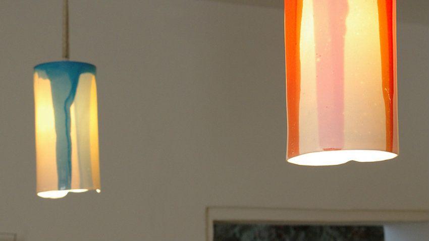 Lampadario arancione