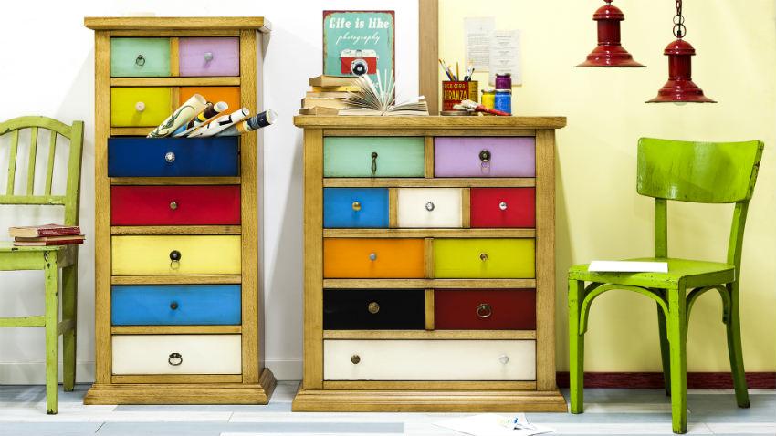 Dalani mobili colorati nuance fluo e tinte pastello - Pomelli colorati per mobili ...