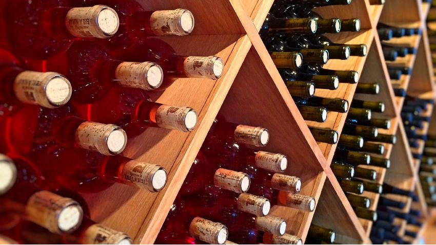Dalani cantinetta in legno portabottiglie di stile - Portabottiglie di vino in legno ...