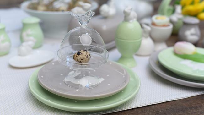 regali di pasqua campana di vetro da decorare