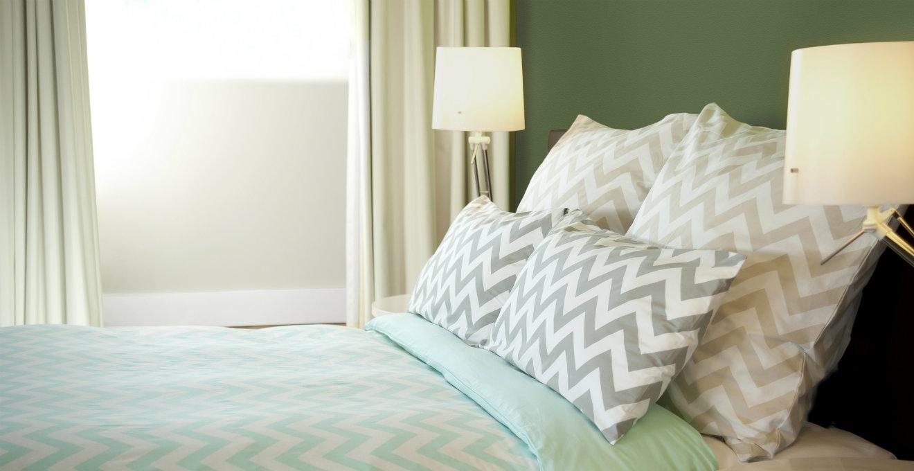 Camera da letto verde la natura nella zona notte - Camera da letto marrone ...