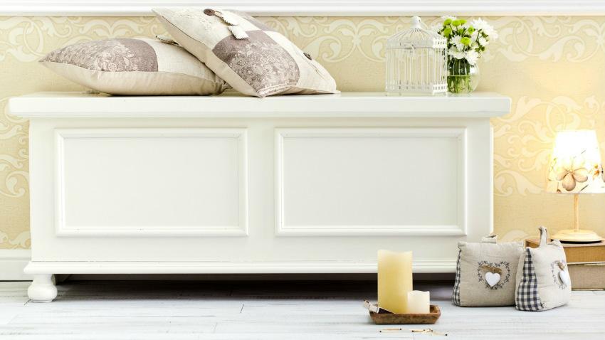Dalani cassapanca bianca fare ordine con eleganza - Camera da letto moderna bianca laccata ...