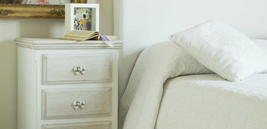 Dalani comodino bianco tavolino per la camera da letto - Mobili laccati bianchi ...