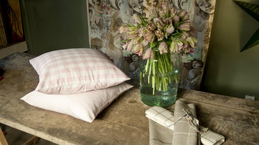 Dalani tende a vetro country tessili per la cucina rustica - Tende a vetro per camera da letto ...