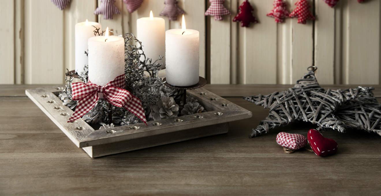 Portacandele natalizi