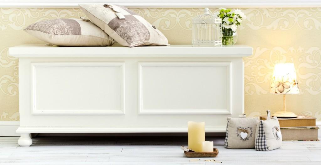 Panca contenitore shabby design casa creativa e mobili for Cassapanca napoli
