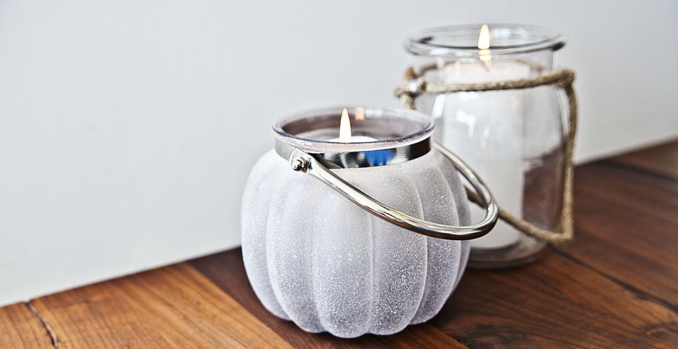Dalani portacandele in vetro romantiche atmosfere - Portacandele in vetro ...