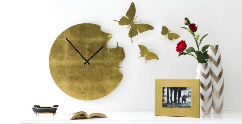 orologio da parete farfalle