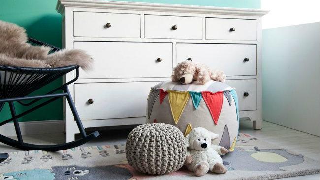 camerette per neonati cassettiera pouf orsetti