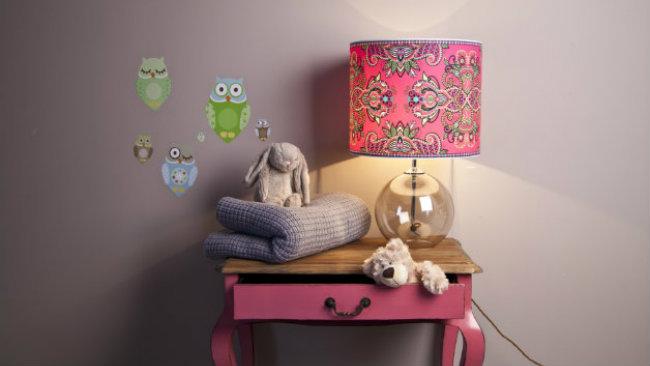 camerette per neonati stickers lampada consolle giochi