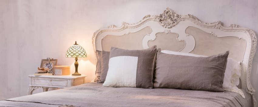 Dalani coperte provenzali cenni francesi per il letto - Spalliere letto in legno ...