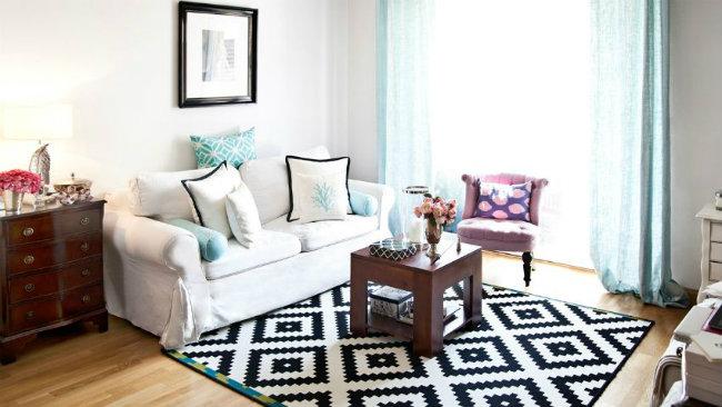 arredare il salotto tappeto tavolino divano poltrona
