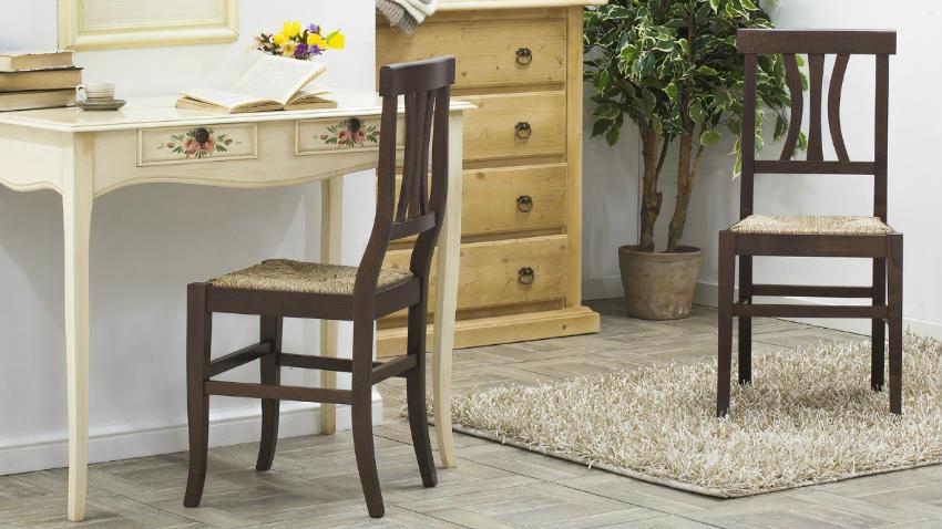 Dalani sedie in legno grezzo fascino al naturale - Sedie da cucina in legno ...