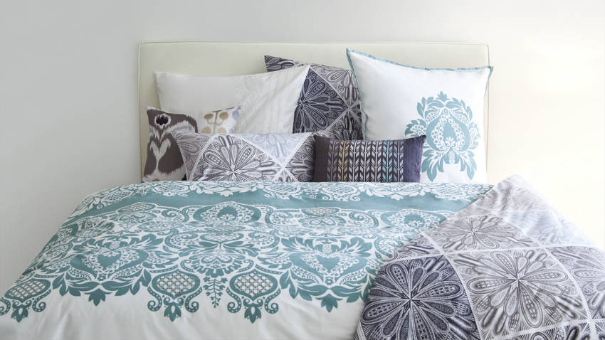 Dalani copriletto verde nuance rilassanti a letto - Copriletto matrimoniale estivo ...
