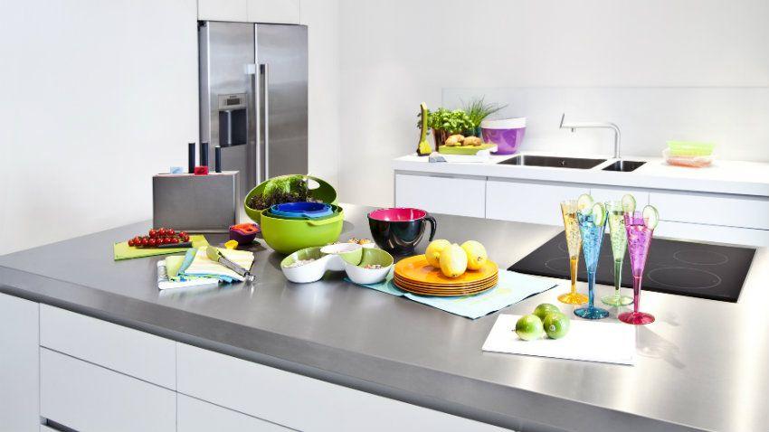 Cucina con penisola funzionalit contemporanea dalani - Cucina piccola con penisola ...