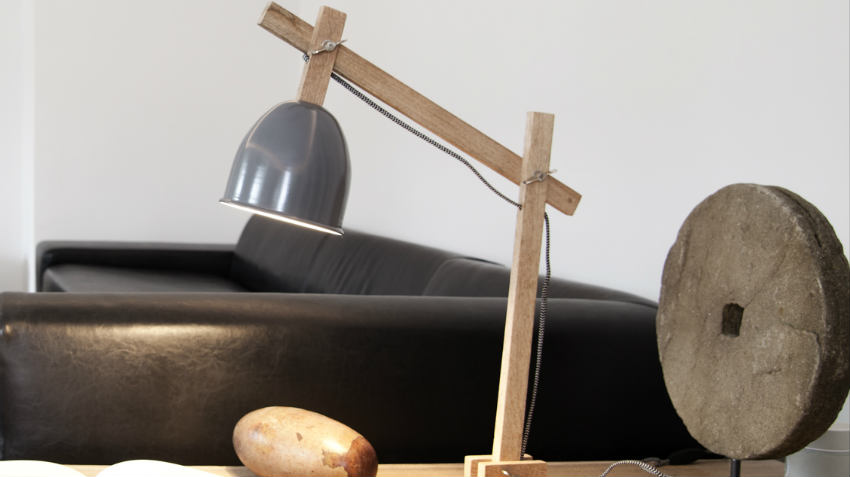 Lampade in legno grezzo