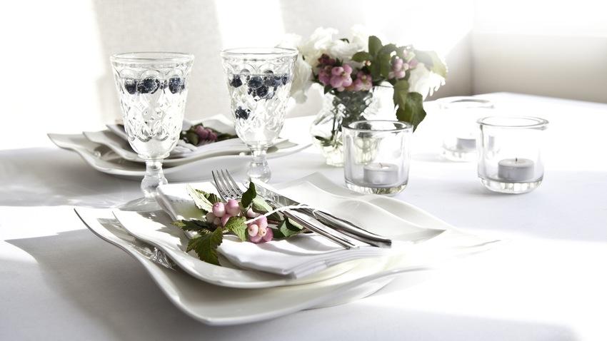 Dalani sala da pranzo bianca per un pranzo di relax - Tappeti per sala da pranzo ...