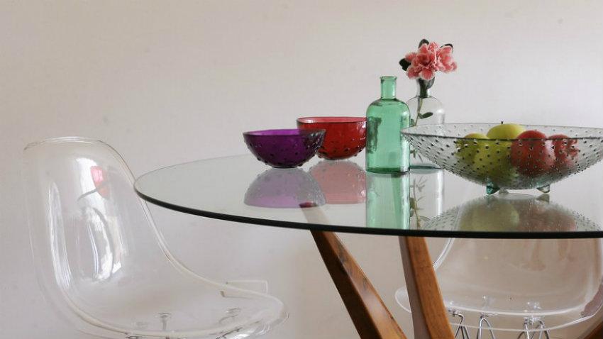 Dalani tavoli di cristallo allungabili minimal design - Tavoli di design in cristallo ...