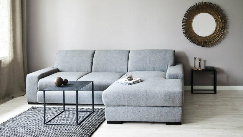 Dalani divano letto con penisola eleganza e praticit - Come mettere i cuscini sul letto ...