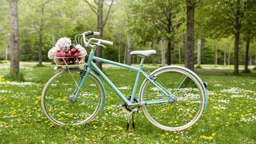 Cestino bici in vimini