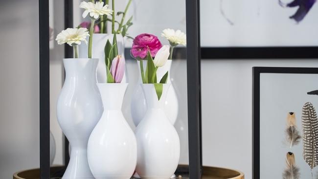 coprivaso in feltro vasi in ceramica bianca
