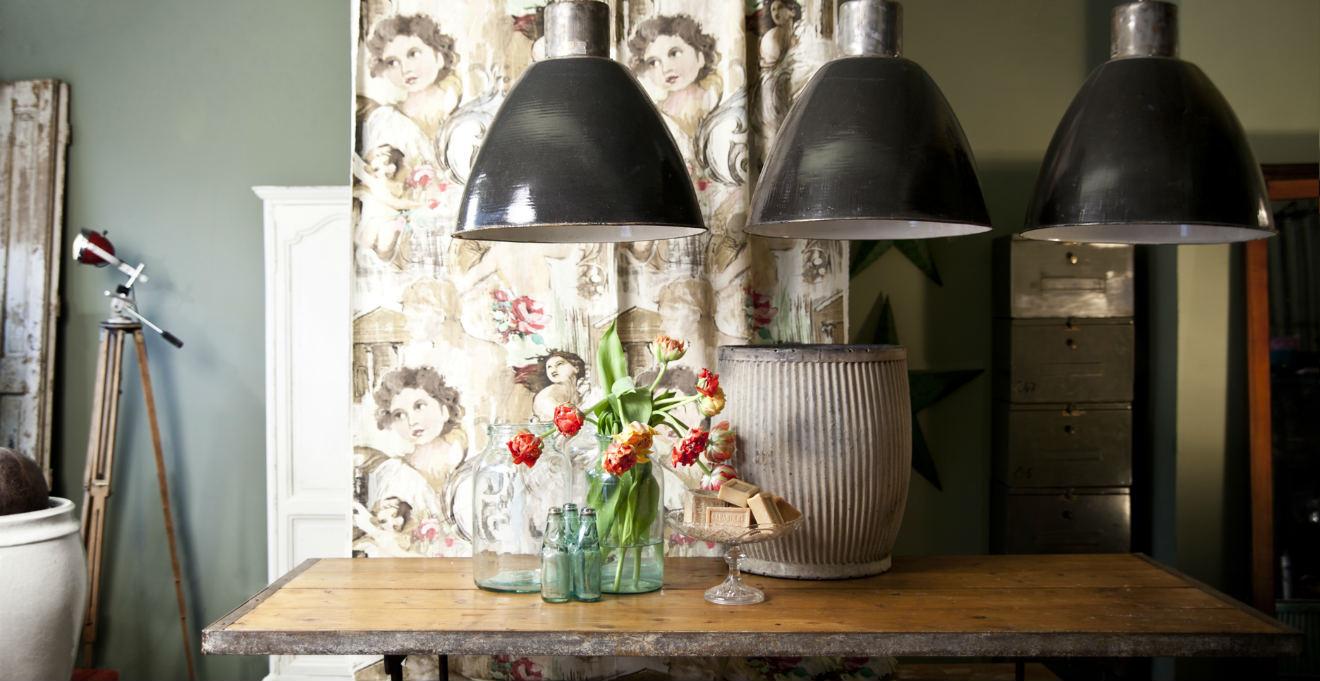 Dalani lampadari industriali fascino vintage - Cucina lampadari ...