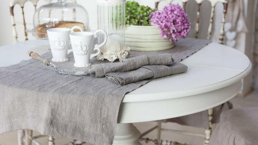 Dalani tavolo bianco decapato stile shabby chic - Tavolo decapato ...