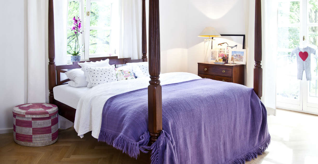 Camera da letto in noce