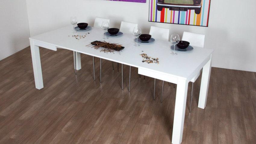 Tavolo bianco allungabile eleganza e praticit dalani for Tavolo cucina bianco allungabile
