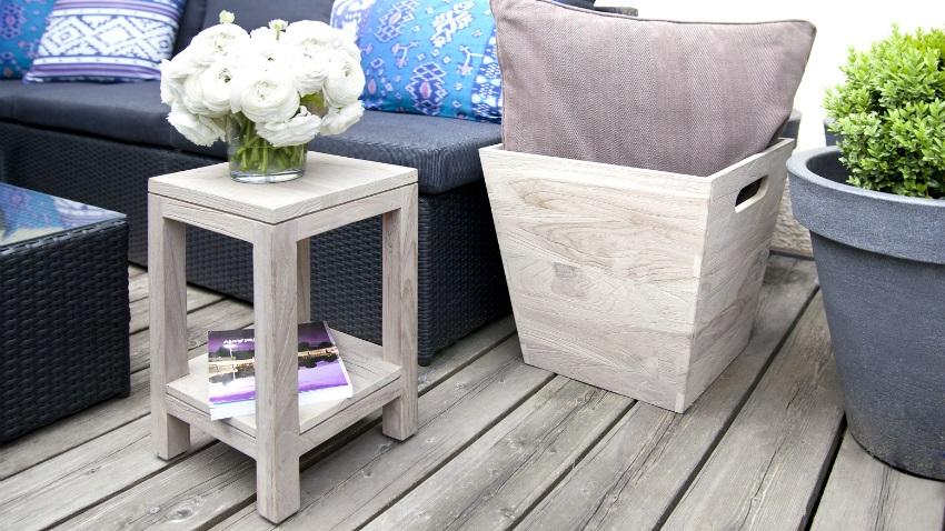Dalani tavolino da balcone estate con stile for Terrazo exterior 40x40