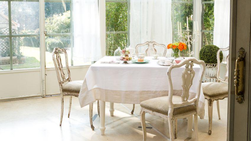Witte eetkamerstoelen