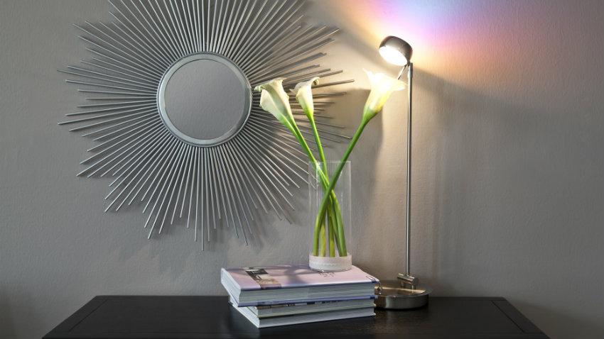 RVS wandlamp