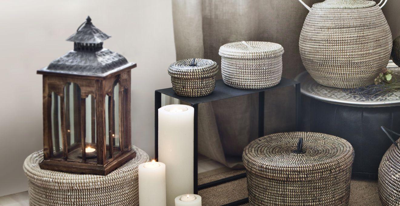 Trendy rieten lampenkappen in huis westwing - Trendy deco eetkamer ...
